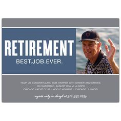 Best Job Ever Retirement Invitations by Elizabeth Victoria Designs for PaperStyle