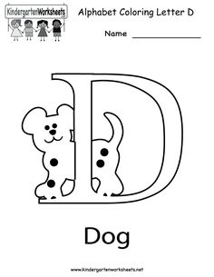 Printable letter worksheets for every letters of the alphabet. #ABC #worksheet