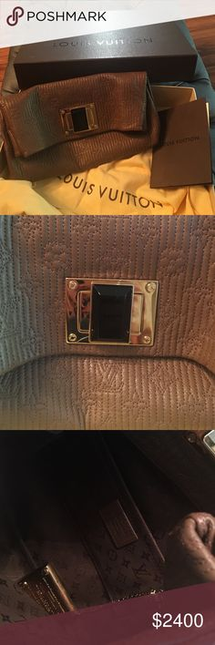 Louis Vuitton bag Stunning bag gorgeous logo all over leather with gold buckle and black stone with box and dust bag and papers. In perfect condition. Worn once. Bags Mini Bags