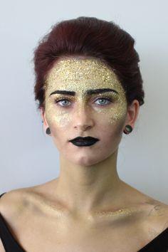 Tricoci University's Student Competition Photo Contest. #makeup #glitter #fashion #photography