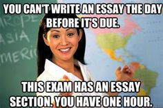 Reminds me of all of my AP classes.