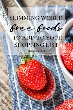 I'm one week in & I've done my first food shop so these are the Slimming World Free Foods to add to your shopping list to get you off to the right start. Slimming World Free Foods, Food Lists, Meals For One, Shopping, Style, Swag, Stylus