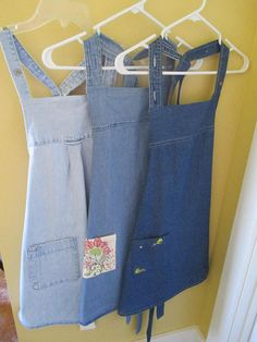 Recycled Denim Shirt Full Apron  Your Choice