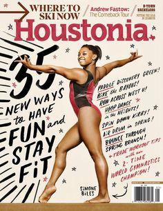 New cover design Houstonia magazine. Photography: Todd Spoth Lettering: Joel Holland Design Director: Chris Skiles Editorial Director: Scott Vogel Executive Editor: Catherine Matusow
