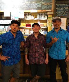 Healthy Aloha Friday Everyone Repping #Hinano Aloha Shirts @hiblend