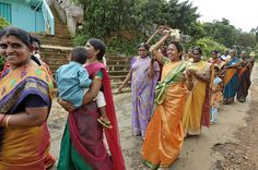 Women take part in Buddhist procession at Rookwood Tea Estate in Kandy, Sri Lanka.