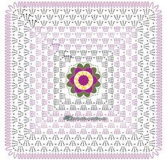 Charmants coussins et leurs grilles gratuites Crochet Wool, Love Crochet, Crochet Granny, Baby Blanket Crochet, Diy Crochet, Crochet Hats, Crochet Flower Squares, Crochet Flowers, Pattern Quotes