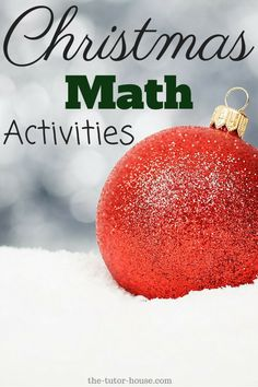 Christmas Math Activities | The Tutor House