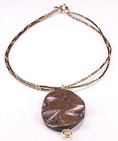 Jewelry Making Idea: Bronzite Mocha Necklace (eebeads.com)