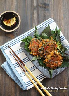 방아잎 장떡~향으로 먹고 맛으로 먹는 몸에 약이 되는 토종 허브 부침개 : 네이버 블로그