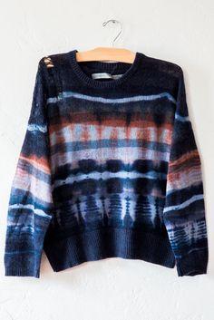 raquel allegra blue / clay sweater – Lost & Found