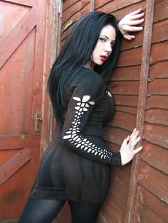 Zombie Goth Industrial Post Apocalyptic Dress Bandage Steampunk Bodycon Distressed Shredded. $45.00, via Etsy.