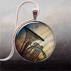 French Horn & Music Pendant