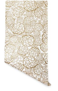 gold wallpaper floral print flower print wall decor -petal pusher wall paper from hygge and west Fabric Wallpaper, Of Wallpaper, Flower Wallpaper, Wallpaper Ideas, Nursery Wallpaper, Beautiful Wallpaper, Wallpaper Panels, Wallpaper Samples, Bathroom Wallpaper