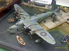 Short Sunderland Mk III at Malta. Diorama by Louis Carabott