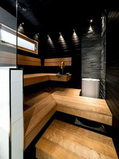 38 Awesome Home Sauna Design Ideas - Popy Home Modern Master Bathroom, Bathroom Spa, Small Bathroom, Sauna Shower, Sauna Design, Outdoor Sauna, Steam Sauna, Sauna Room, Spa Rooms