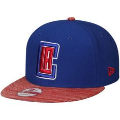 10b56c4441f Men s New Era Royal Red LA Clippers Current Logo Team Solid 9FIFTY Snapback  Adjustable Hat