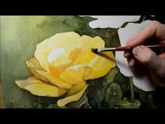 Watercolor painting - Yellow roses - YouTube. Please also visit www.JustForYouPropheticArt.com for more colorful art you might like to pin. Thanks for looking!