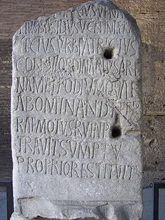 Latin inscription from the Colosseum