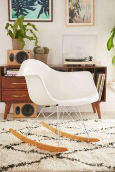 Modernica Fiberglass Arm Shell Rocking Chair - Urban Outfitters