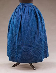 In the Swan's Shadow: Reversible quilted petticoat 1840-50