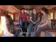 Kumail Tours Portlandia - Tiny House » like the collapsible stairs and tiny wood stove
