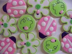 cookies...so cute with the pink and green