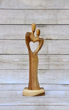 amor pareja joyería de madera madera para la por NilaDolss en Etsy