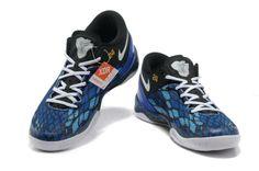 Nike Kobe 8 System iD Men's Basketball Shoe Black Blue