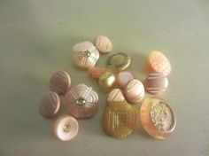 Vintage Buttons  Lot of 16 Sweet little mix in by pillowtalkswf, $7.00