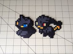 Pokemon Bead Sprite Set  Shuppet Family by ToughTurtles on Etsy, $5.50