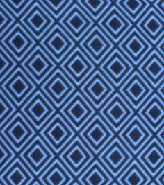 Blizzard Fleece Fabric- Navy With Diamonds, , hi-res