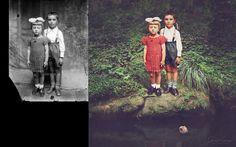 Jane Long colorea y transforma fotos antiguas en algo surrealista y asombroso