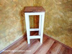 How to build a wood bar stool   HowToSpecialist - How to Build, Step by Step DIY Plans