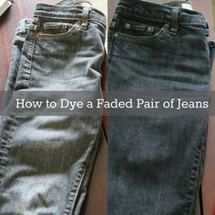 Great tutorial for giving new life to faded jeans!