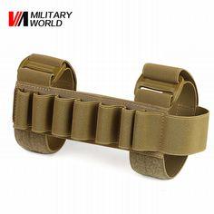 7 Rounds Gun Ammo Bullet Shell Buttstock Cartridge Holder Tactical Molle Pistol Ammo Holster Hunting Shooting Rfile Case #