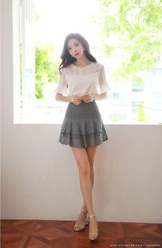 Korean Women`s Fashion Shopping Mall, Styleonme. Fashion Models, Girl Fashion, Fashion Outfits, Womens Fashion, Asian Woman, Asian Girl, Looks Teen, Lady Like, Beautiful Asian Women