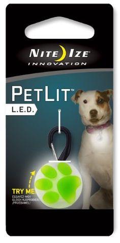 Nite Ize PetLit LED Collar Light White LED - Paw Green by Nite Ize, http://www.amazon.com/dp/B005O0RW70/ref=cm_sw_r_pi_dp_0aTGsb1HRP3P4
