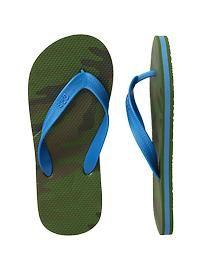 Graphic flip flops