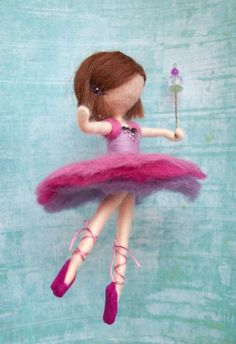Needle felted ballerina decoration MADE TO by MavisSnapdragon