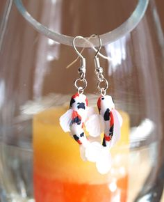 Koi Fish Earrings in Polymer clay original by BoutiqueMignonnerie