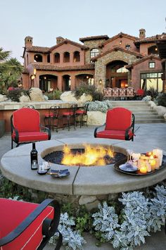 This house is okay; not my particular cup of tea. However, the outdoor fire-pit is right on target. A fairly simple and inexpensive treat for one's back yard. I'll definitely put one of these in our backyard.