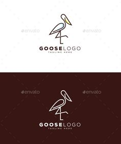 Buy Goose Logo by Meredia on GraphicRiver. Files Included: Logos are vector based built in Illustrator software. They are fully editable and scalable without lo. Logo Design Template, Logo Templates, Cheap Logo, Portfolio Logo, Ai Illustrator, Free Logo, Animal Logo, Animal Design, Cool Logo