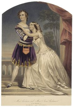 Charlotte and Susan Cushman as Romeo and Juliet. Staffordshire, ca. 1852. Folger Shakespeare Library. #Shax450