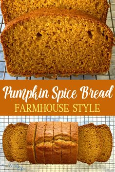 Our family loves this sweet Farmhouse Pumpkin Spice Bread that has a pound of pureed pumpkin to help keep each slice extra moist! Famous Desserts, Fun Desserts, Pumpkin Recipes, Fall Recipes, Yeast Free Breads, Pumpkin Spice Bread, Breakfast Casserole Easy, Cooking For Beginners, Breakfast Lunch Dinner