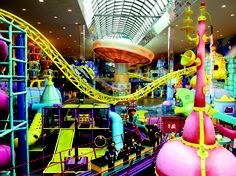 West Edmonton Mall, The world's largest indoor amusement park features more than 24 spectacular rides and play areas for all ages.