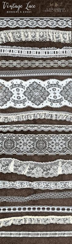 Vintage Lace Borders & Edges No. 2 – Avalon Rose Design