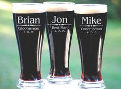 Personalized Groomsmen Gifts Beer Glasses by UrbanFarmhouseTampa