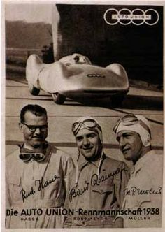 DriveWerks.com - Auto Union Type C-Stromlinie 1938, Bernd Rosemeyer, Rudolf Hasse, H.P. Miller.