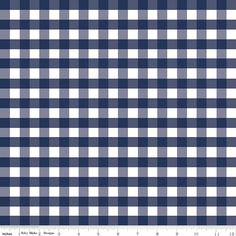 This print is sold by the 1/2 yard. Your order will be cut continuously. Riley Blake navy gingham double gauze fabric.  Fabric content is 100%